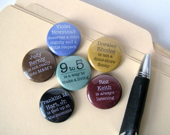 9 to 5 - Movie - 1980's - Comedy - Button or Magnet set