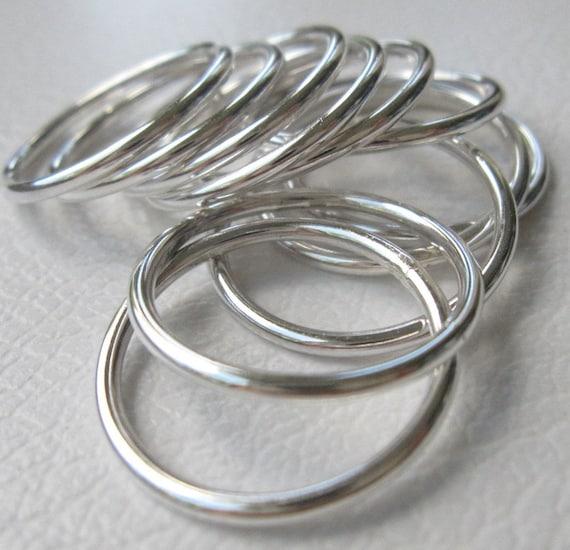 Einfache Silber Ringe Zusteckring Plain Silber Ringe