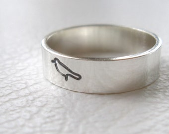 Silver Bird Ring, Sparrow Jewelry