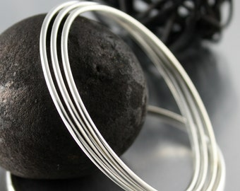 Simple Bracelet, Silver Bracelet, Silver Bangle
