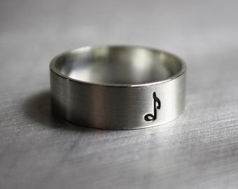 Silver Music Note Ring, Music Note Jewelry, Clef Ring