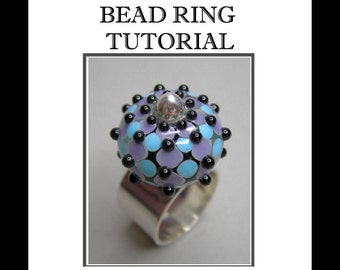 Bead Ring Tutorial, Jewelry Tutorial, Silver Ring Tutorial