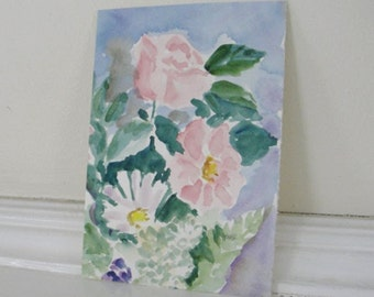 Flower Painting Mixed Flowers Original Watercolor Flower Painting