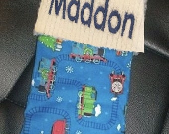 Wizard of Oz Glinda the Good Witch and Chenille Handmade Christmas Stocking with FREE US SHIPPING