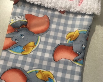 Disney's Dumbo the Elephant and Chenille Handmade Christmas Stocking with FREE US SHIPPING