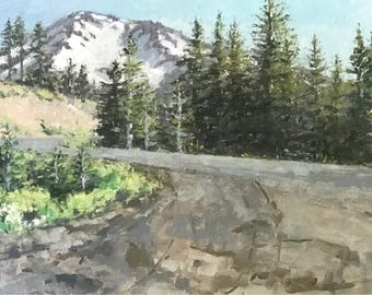 The Road to Mt. Shasta original oil painting by Andrew Daniel