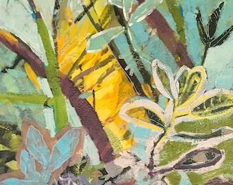 Light Through Branches original acrylic painting