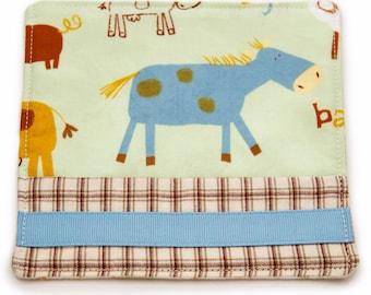 Horse Drink Coaster, Barnyard Animals, Handmade Fabric Coaster, Country Mug Rug, Horse Gift, Coffee Cup Mat, Country Home Decor