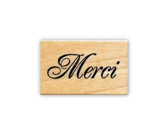Merci Stamp Custom Stamp Thank You Wedding Stamp Personalized Stamps STHAN301 - S.3 Merci Rubber Stamp Favor Stamp Thank You Stamp