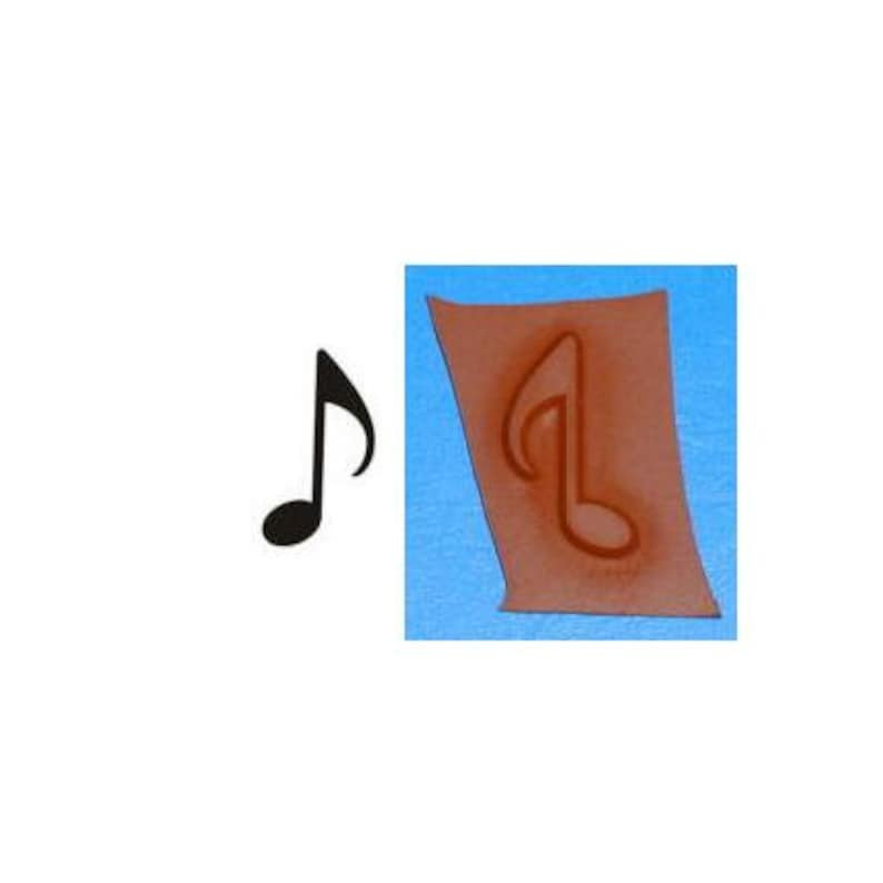 quaver musical eighth note Music Note unmounted rubber stamp Sweet Grass Stamps No.2