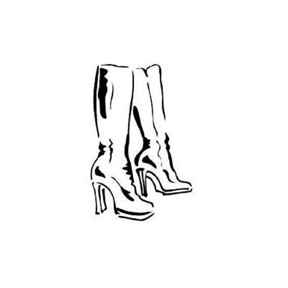 FUR COAT unmounted fashion rubber stamp ladies winter fashion #5