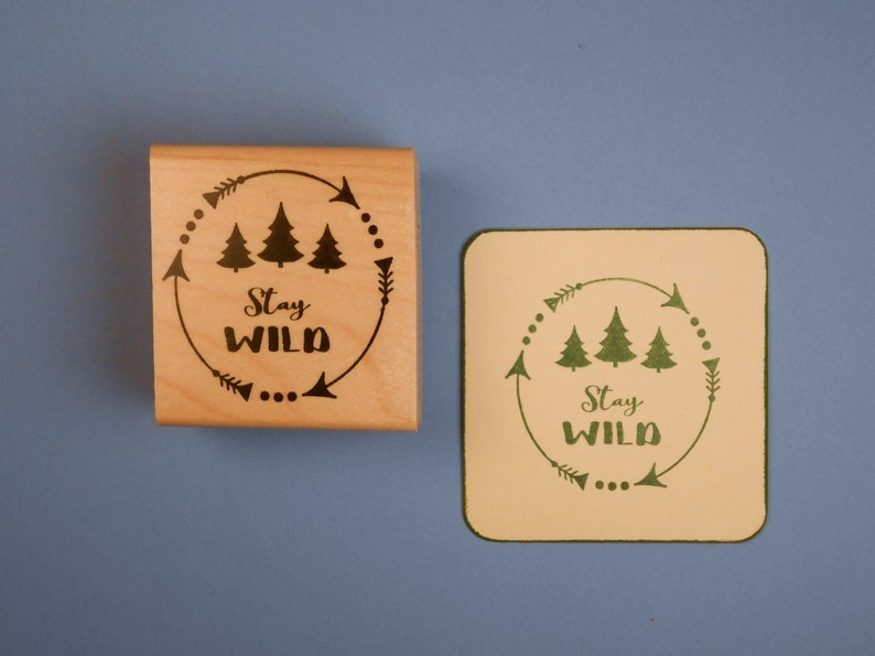 Outdoors Hiking Wilderness Backpacking Stay Wild Mounted Rubber Stamp Camping Sweet Grass Stamp #25