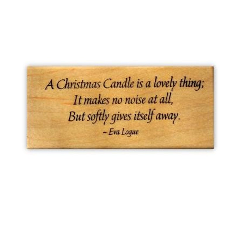 CHRISTMAS CANDLE wood mounted rubber stamp #19