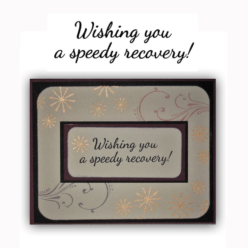 encouragement UNMOUNTED rubber stamp Sweet Grass Stamps #23 Wishing you a speedy recovery