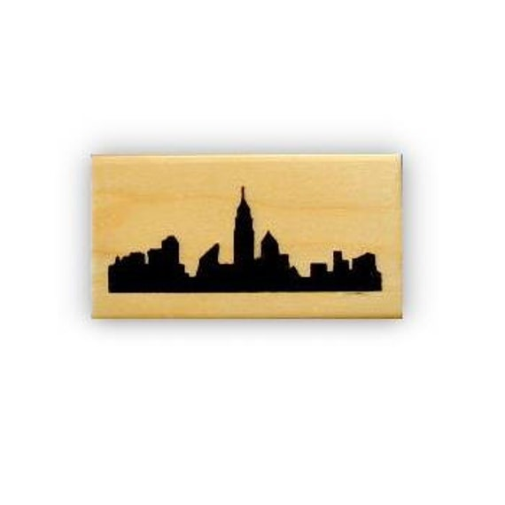 NYC City Buildings Sweet Grass Stamps #15 Travel Journal Stamp New York City Skyline Silhouette Rubber Stamp Mounted Skyscraper