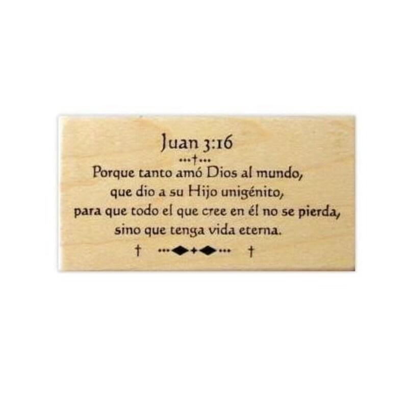 La 16 Tampon De Verset EspañolAu Verso En BibliaChristianSweet N 11 Espagnol Bible John MontéL'écritureEstampilla Del Grass 3 ° 43ARj5L