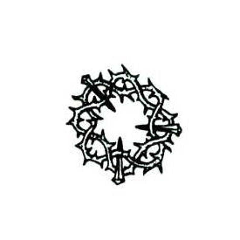 Tiny Crown Of Thorns UNMOUNTED Rubber Stamp Christian