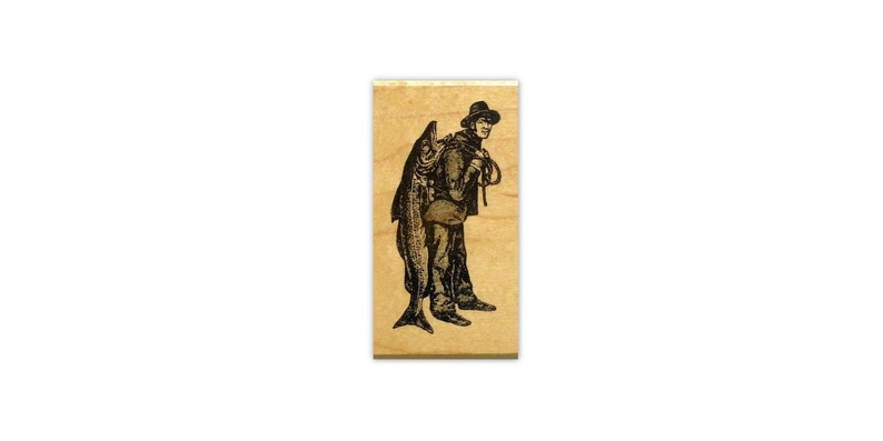 masculine cards #14 LUMBERJACK unmounted rubber stamp