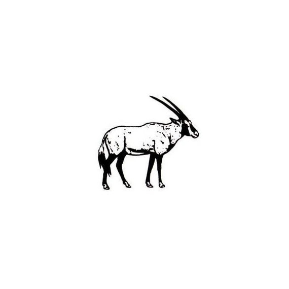 GEMSBOK Mounted African Antelope rubber stamp oryx travel #17 wild animal