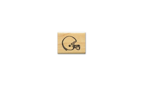 FOOTBALL HELMET unmounted rubber stamp fall sports #14