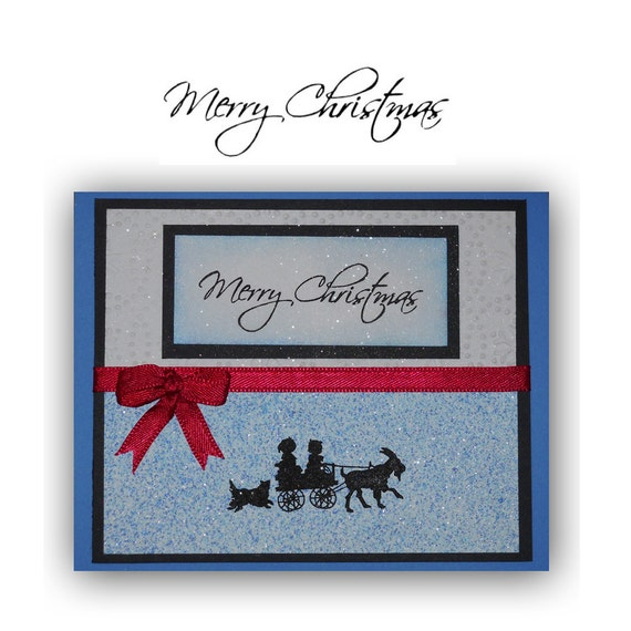 HAPPY HOLIDAYS unmounted Christmas rubber stamp #13