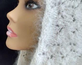 Angora Cowl, white Angora Cowl