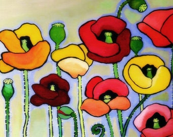 Poppies- Large Print of original oil painting