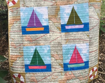 Pattern for Sail Away Baby Blanket Pattern, DIGITAL pattern