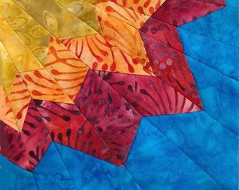 Radiant Flower Paper Pieced Quilt Block Pattern
