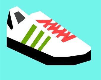 "PATTERN Samba Shoes 10"" quilt block DIGITAL PATTERN"