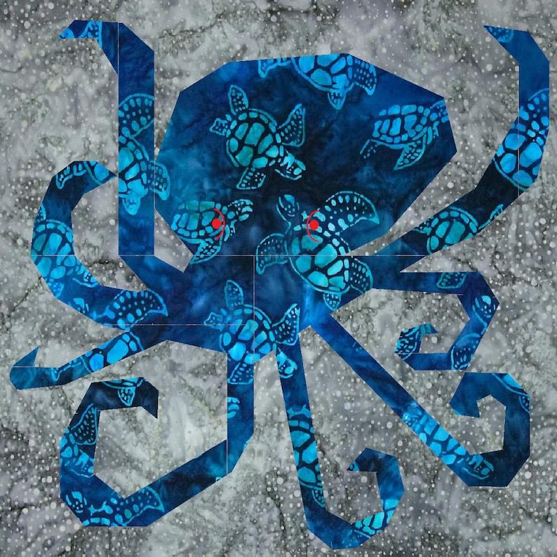 PATTERN Cephalopod Foundation Paper Pieced Pattern image 0