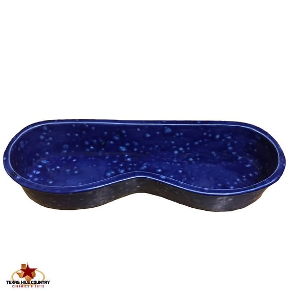 Personal Eyeglass Tray Sleek Modern Style Ceramic Tray Blue Lagoon Lead Free Glaze