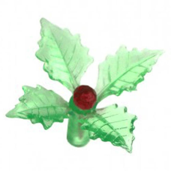 Green Holly with Red Berry Lights 20 Count Package for Ceramic Christmas trees and other Arts and Crafts Projects