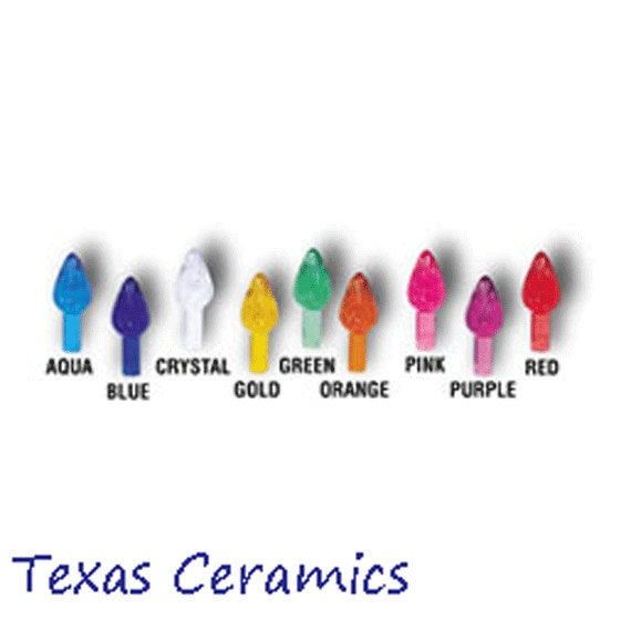 Medium Size Twist Lights 10 Count Your Choice of Color for Ceramic Christmas trees and other Arts and Crafts Projects