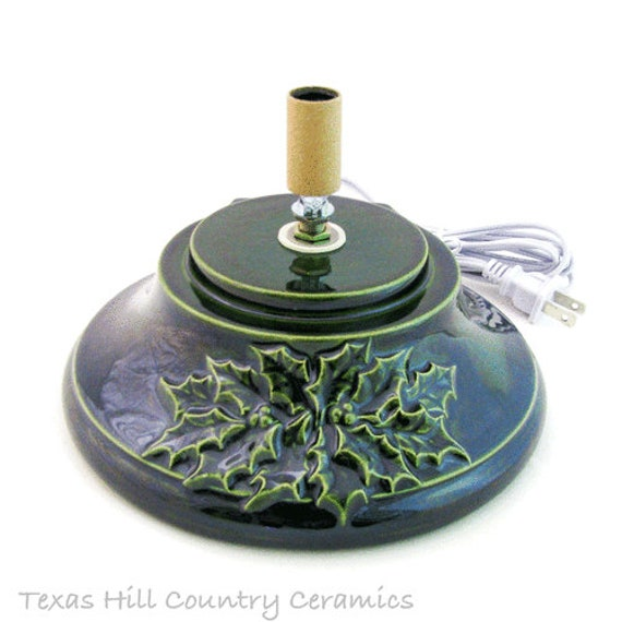Giant Replacement Base -  Holly Design on Front in Green or White - Made to Order