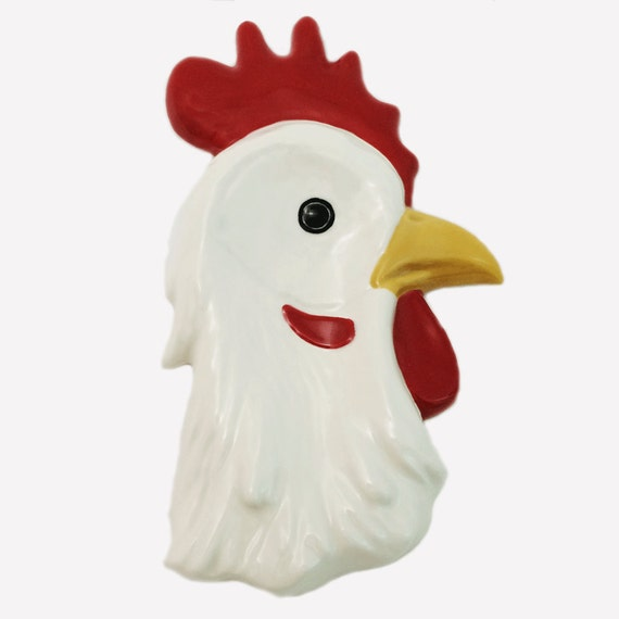 white rooster spoon rest ceramic for kitchen stoves counter etsy