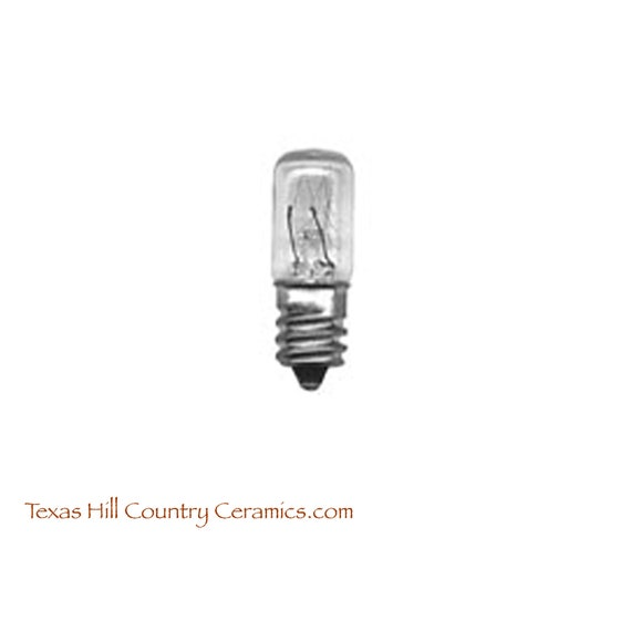 Package of 3 Miniature Tubular Incandescent Light Bulb 6 Watt - Ideal for Miniature Trees and Night Lights