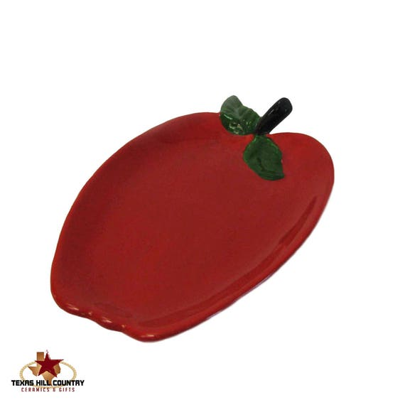 The Perfect Ceramic Red Apple Spoon Rest For Kitchen Counter Cook Tops and Stoves