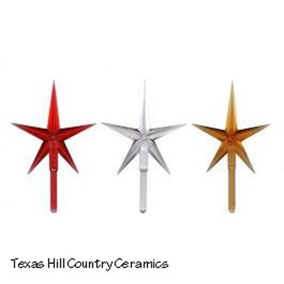 Large Modern Style 5 Point Plastic Star for Ceramic Christmas trees and other Arts and Crafts Projects
