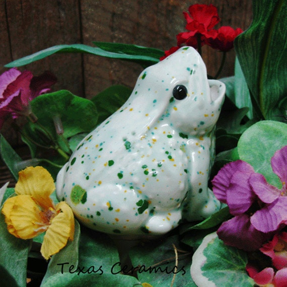 Ceramic Garden Frog Plant Tender or Water Feeder Spike for Indoor Potted Plants or Outdoor Container Gardens Herb Garden Glaze