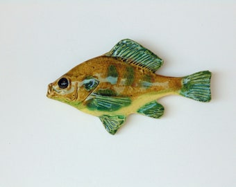 Sunfish ceramic fish art decorative wall hanging & Ceramic fish   Etsy