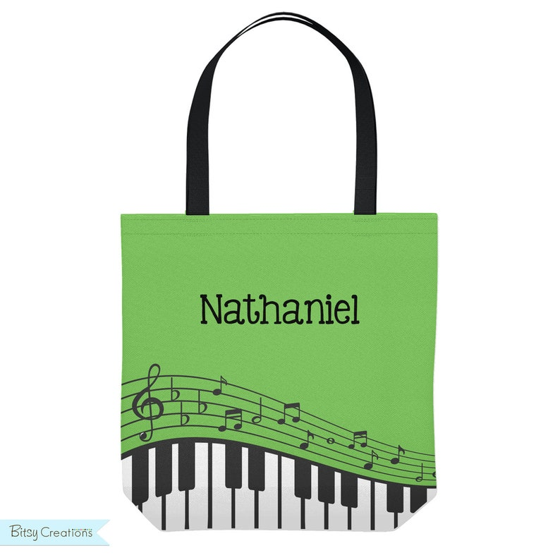 Piano Lesson Bag  Personalized Tote Bag for Kids  Music image 0