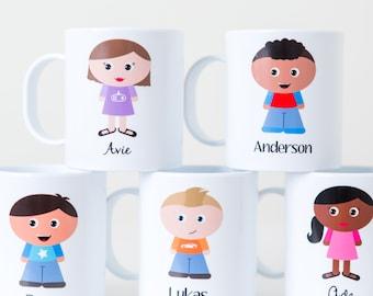 Personalized Kids Cup - Child's Mug Made to Look Like Your Child - Custom Kidlet Mug Personalized Melamine Plastic