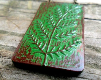 Rustic Green Tree Seedling Necklace