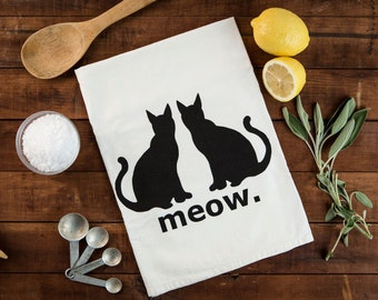 Cat's Meow Kitchen Towel / Floursack Tea Towel