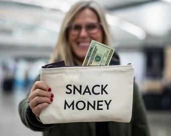 SNACK Money Zipper Pouch