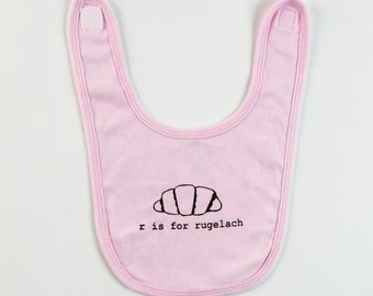 R is for Rugelach Baby Bib