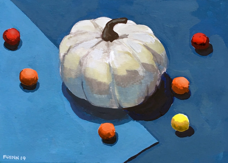 Pumpkin and Chocolate Gouache Painting image 0