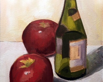 Still Life with Martinelli's Oil Painting