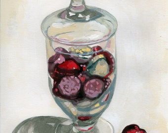 Valentine Candy Still Life Gouache Painting
